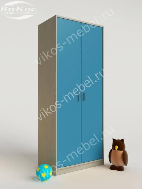 Платяной мальчуковый детский шкаф для игрушек цвета мармара голубой