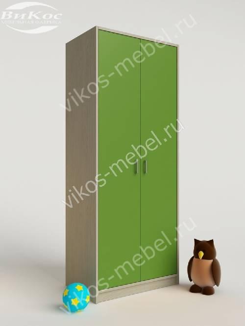 Платяной детский распашной шкаф зеленого цвета