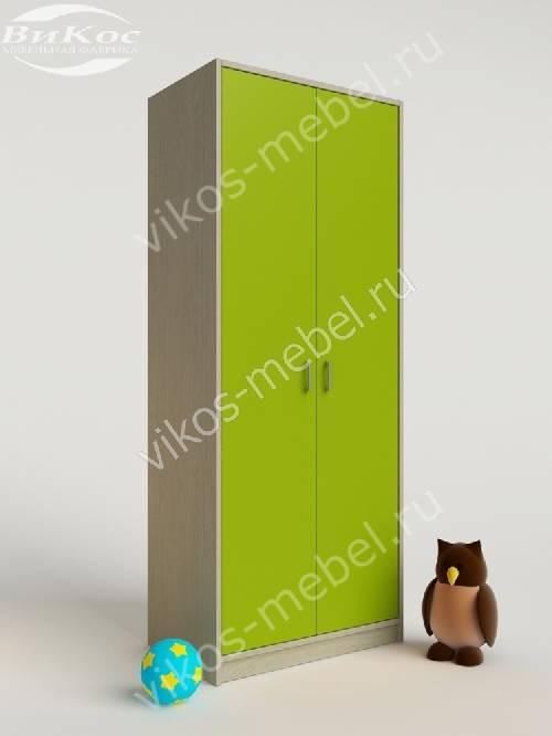 Платяной детский распашной шкаф цвета зеленый лайм