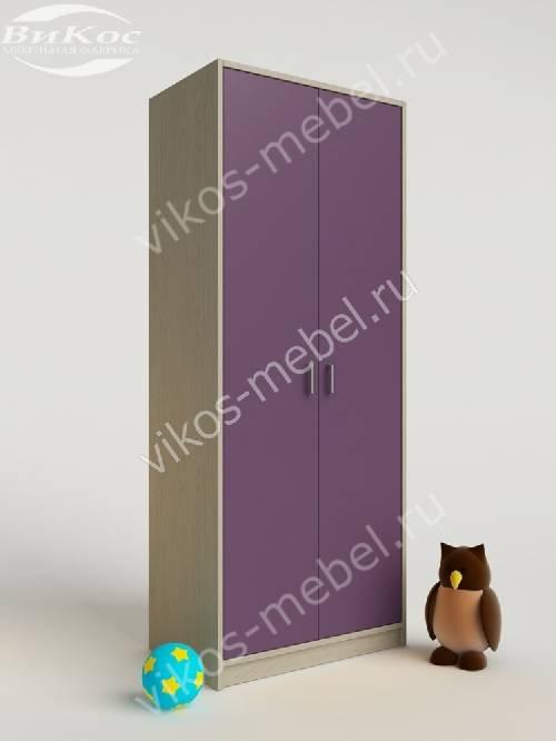 Платяной детский распашной шкаф филетового цвета