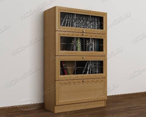 1-створчатый витражный книжный шкаф библиотека цвета бук