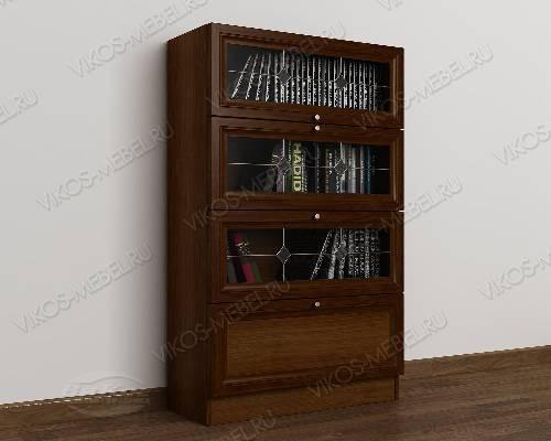 1-створчатый книжный шкаф библиотека с витражом цвета яблоня