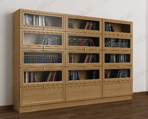 3-створчатый шкаф для книг библиотека цвета бук