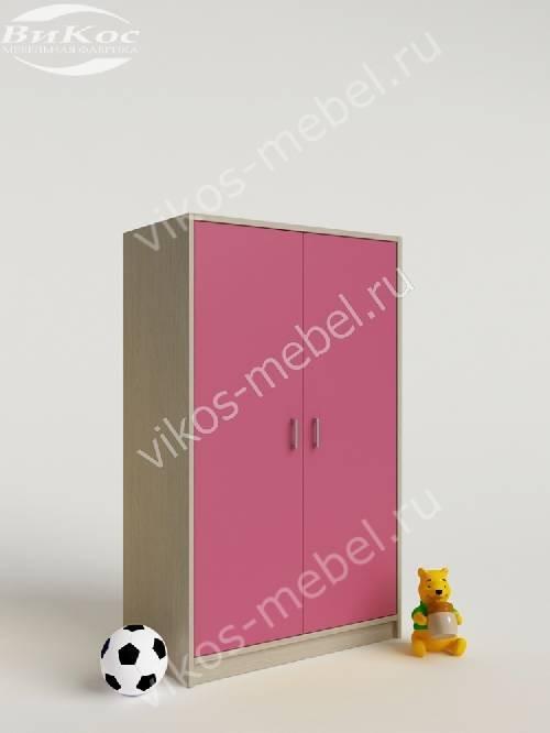 Девчачий мини детский шкаф для игрушек розового цвета