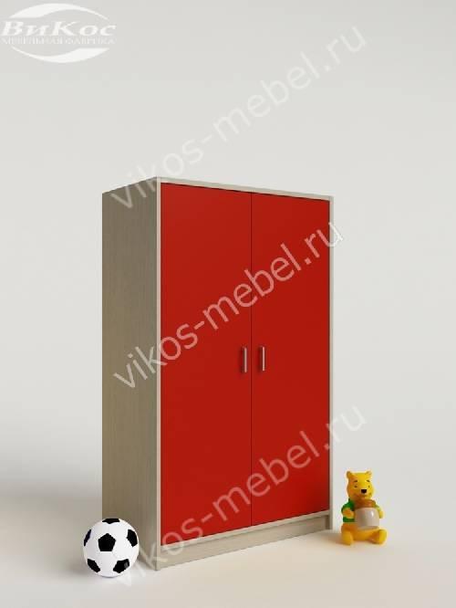 Мини детский шкаф для игрушек для девочки красного цвета