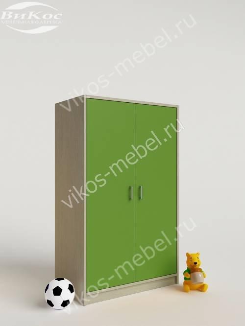 Мини детский шкаф для игрушек зеленого цвета