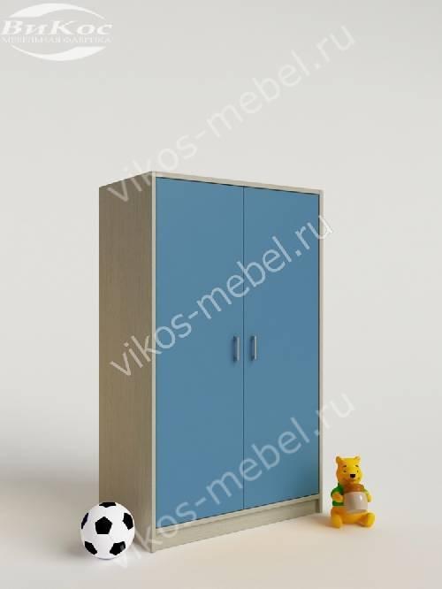 Мини детский шкаф для игрушек для мальчика голубого цвета
