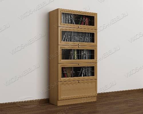 1-дверный книжный шкаф со стеклянными дверцами библиотека с витражом цвета бук