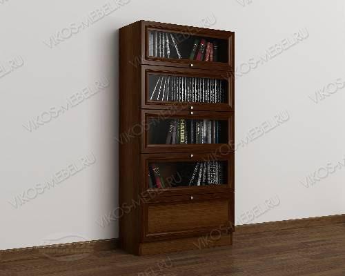 1-дверный книжный шкаф со стеклянными дверцами библиотека цвета яблоня