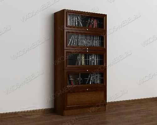 1-дверный книжный шкаф со стеклянными дверцами библиотека c витражным стеклом цвета яблоня