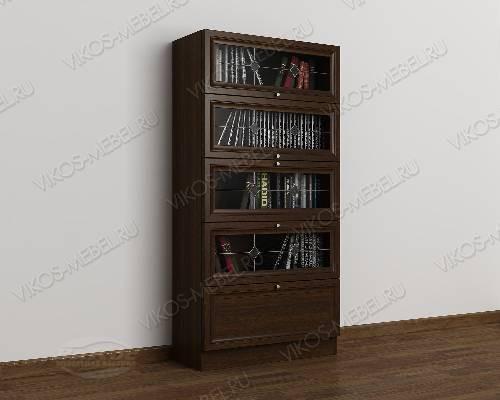 1-дверный витражный книжный шкаф со стеклянными дверцами библиотека цвета венге