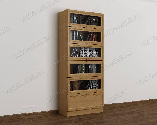 Одностворчатый книжный шкаф библиотека цвета бук