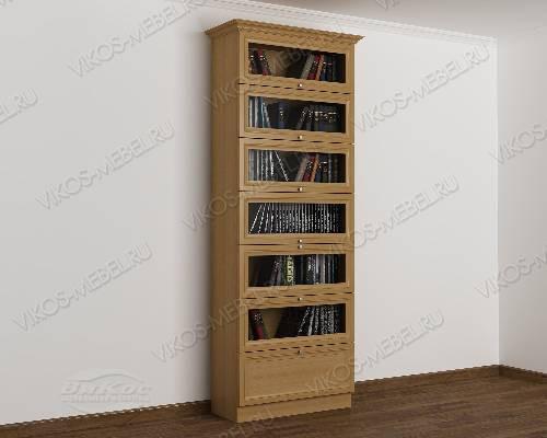 Однодверный шкаф для книг библиотека цвета бук