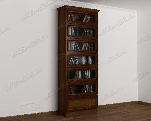 Однодверный шкаф для книг библиотека цвета яблоня