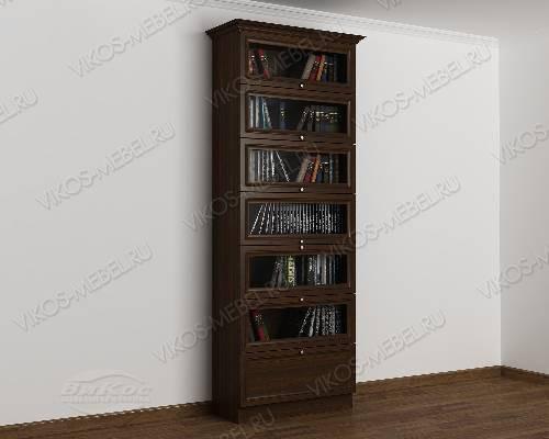 Однодверный шкаф для книг библиотека цвета венге