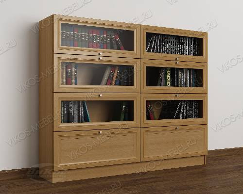 2-створчатый книжный шкаф со стеклом библиотека цвета бук