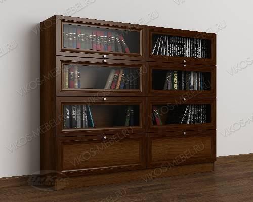 2-створчатый книжный шкаф со стеклом библиотека цвета яблоня