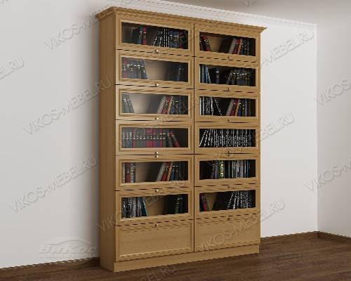 Двухдверный книжный шкаф библиотека цвета бук