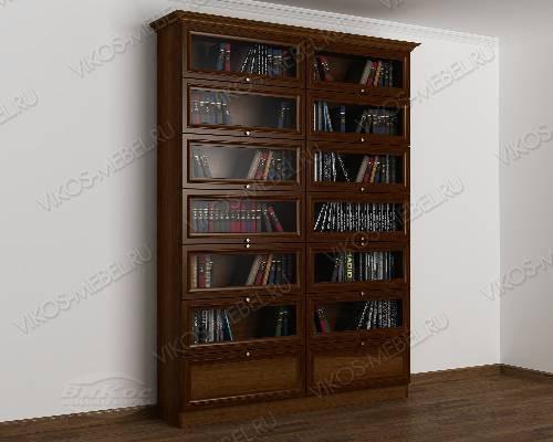 Двухдверный книжный шкаф библиотека цвета яблоня