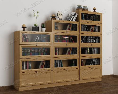3-створчатый книжный шкаф горка цвета бук