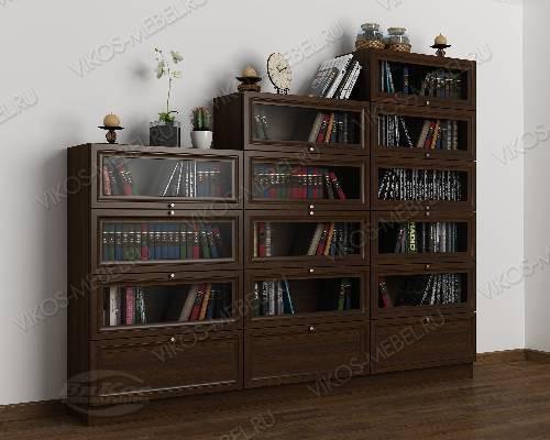 3-створчатый книжный шкаф горка цвета венге