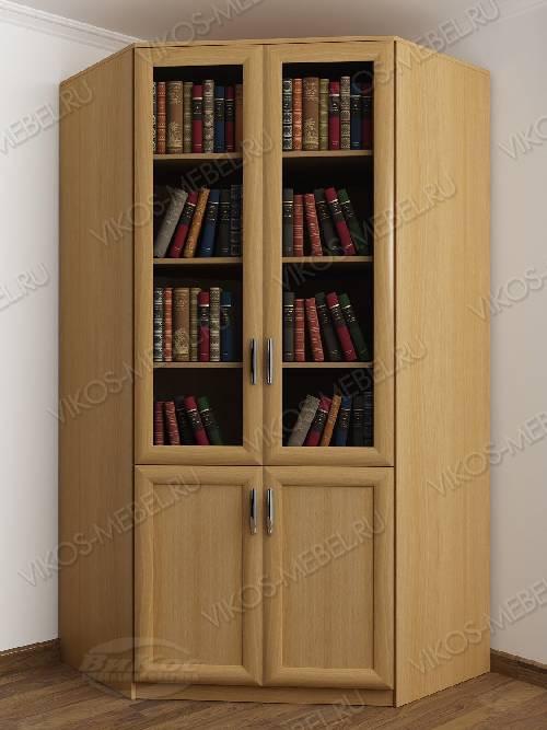 2-створчатый угловой шкаф угловой для книг цвета бук