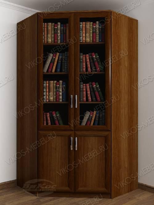 2-створчатый угловой шкаф угловой для книг цвета яблоня