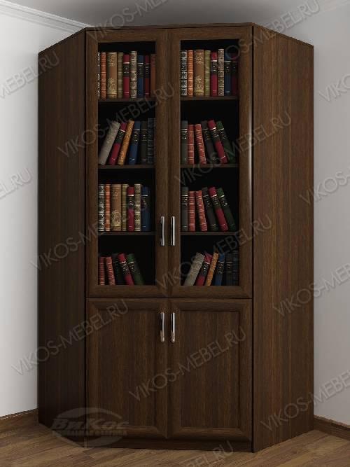 2-створчатый угловой шкаф угловой для книг цвета венге