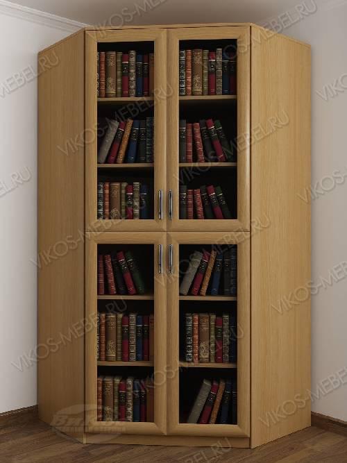 2-дверный угловой угловой шкаф для книг цвета бук