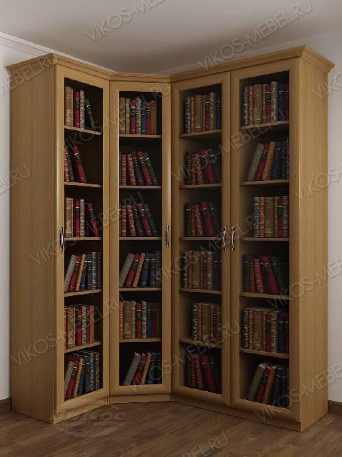 4-створчатый угловой шкаф угловой для книг цвета бук