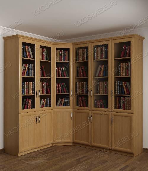 Угловой шкаф угловой для книг цвета бук