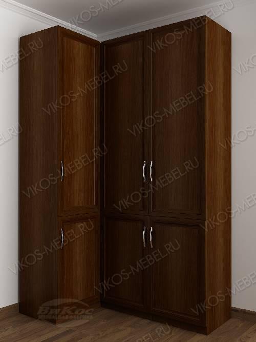 3-дверный шкаф угловой с распашными дверями для спальни цвета яблоня