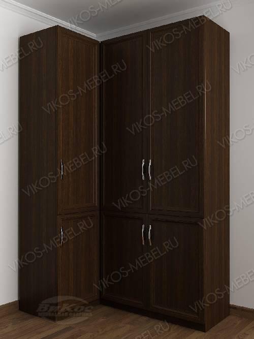 3-дверный шкаф угловой с распашными дверями для спальни цвета венге
