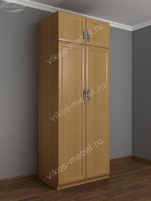 2-створчатый платяной шкаф с антресолью в спальню цвета бук