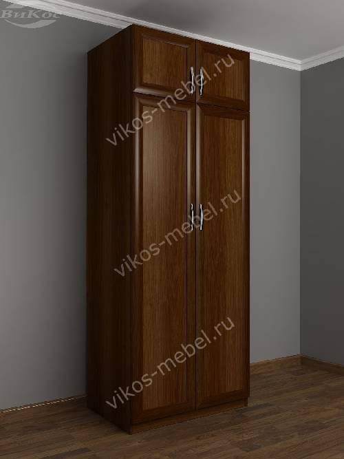 2-створчатый платяной шкаф с антресолью в спальню цвета яблоня