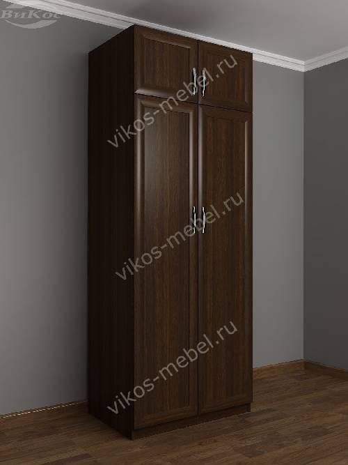 2-створчатый платяной шкаф с антресолью в спальню цвета венге