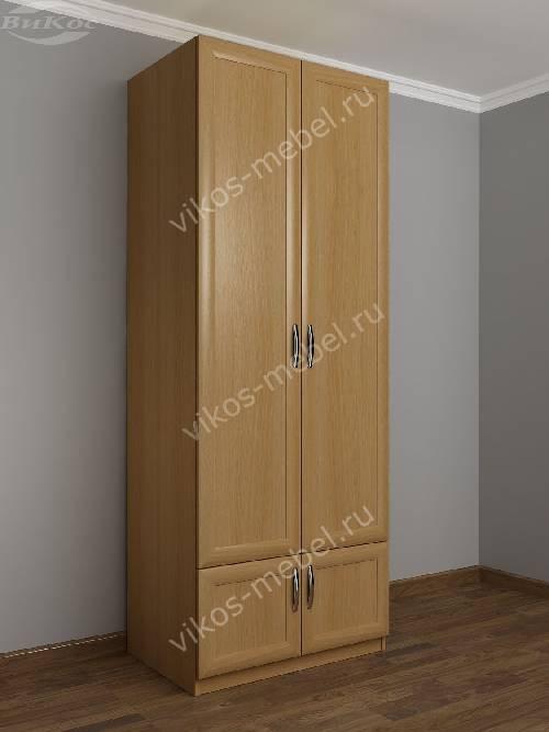 2-дверный шкаф с распашными дверцами в коридор со шкафчиком цвета бук
