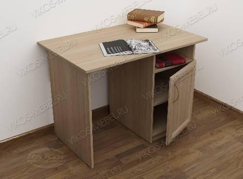 Малогабаритный письменный стол со шкафчиком цвета шимо светлый
