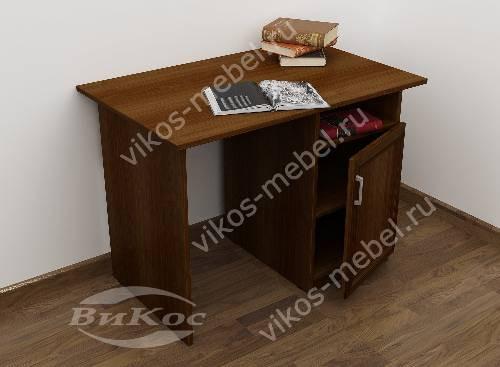 Малогабаритный письменный стол со шкафчиком цвета яблоня