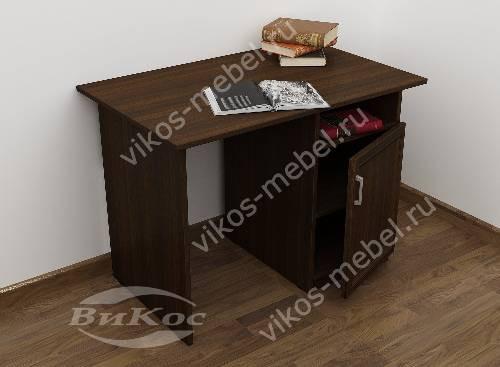 Малогабаритный письменный стол со шкафчиком цвета венге
