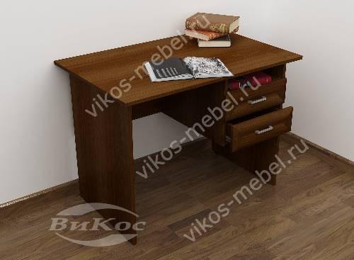 Малогабаритный офисный стол с ящиками для мелочей цвета яблоня