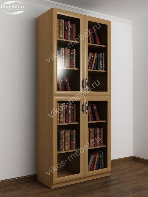 2 дверный шкаф для книг цвета бук