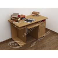 прямой стол компьютерный цвета бук