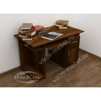 прямой стол компьютерный цвета яблоня