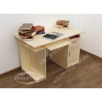 прямой стол компьютерный цвета молочный беленый дуб