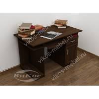 прямой стол компьютерный цвета венге