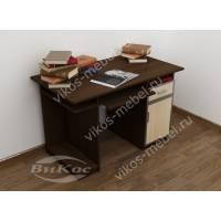 прямой стол компьютерный цвета венге - молочный дуб