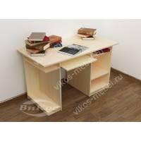 большой стол для компьютера с полками