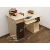 широкий прямой компьютерный стол