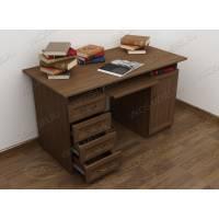 стол компьютерный с ящиками для мелочей цвета шимо темный